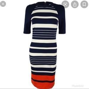 Michael Kors striped body con dress